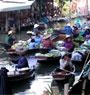 Damnern Saduak Floating Market and Rose Garden /SSMDR  (Departure from Bangkok)